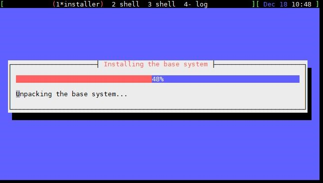 Installing the base system