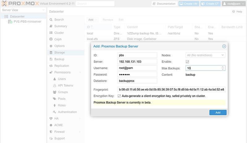 Proxmox Backup