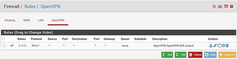 VPN Configurazione pfSens