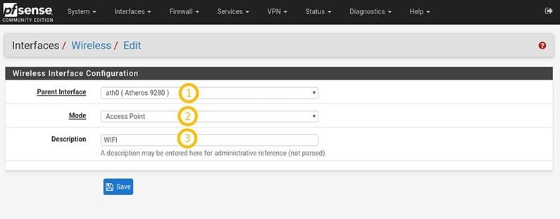 Wifi pfSense 2.4